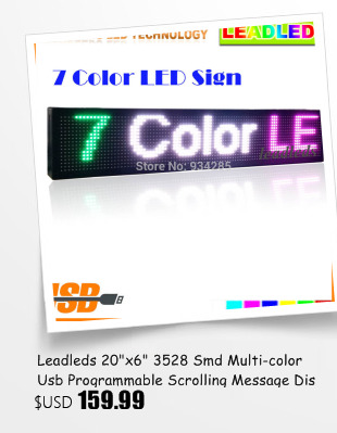 26.4X7.5 InchesBlue Display LED USB Programável Scrolling