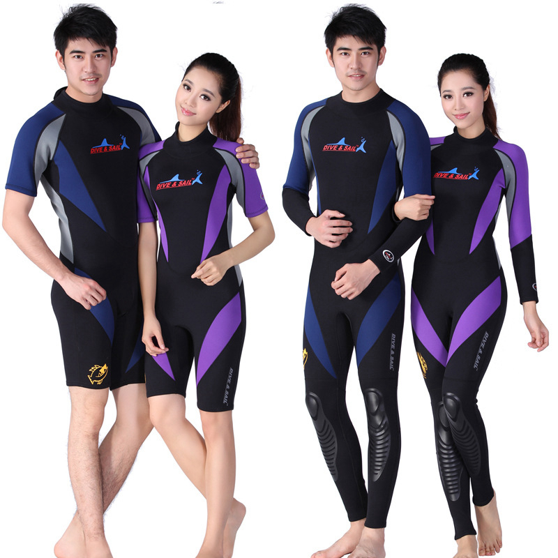 01654245ab Neoprene 1.5MM Scuba Diving Suit Men Women Wetsuits Equipment Snorkeling  Jumpsuit One Piece Long Sleeved
