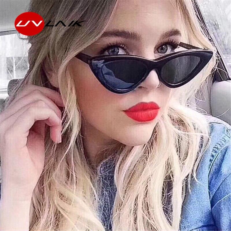 UVLAIK Mode Cat Eye Sonnenbrille Frauen Marke Designer Vintage Retro sonnenbrille Weibliche Mode Cateyes Sonnenbrille UV400 Shades