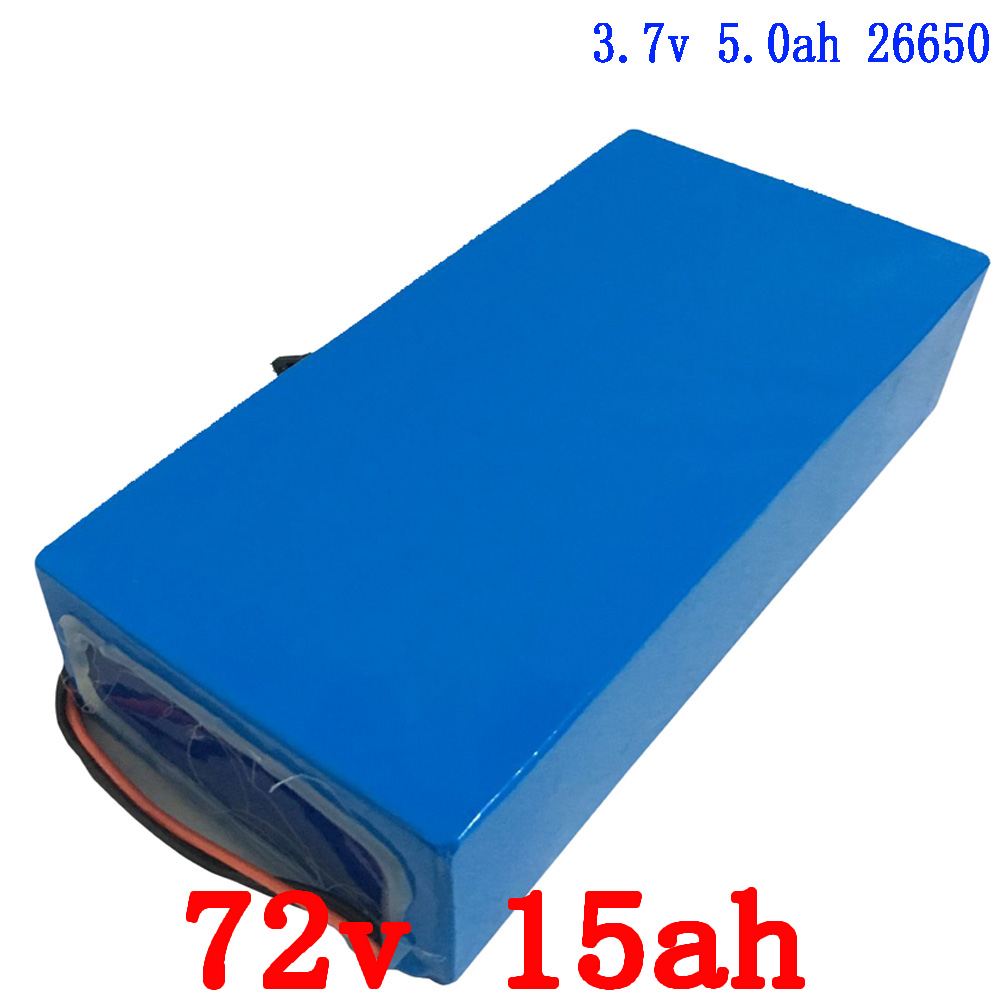 72v 15ah 1500w Ebike battery 26650 Lithium battery pack Electric bicycle battery with 84v 2A charger 15A BMS free  shipping free customs taxes ebike battery 48v 40ah 2000w electric bicycle lithium battery pack with charger and 50a bms