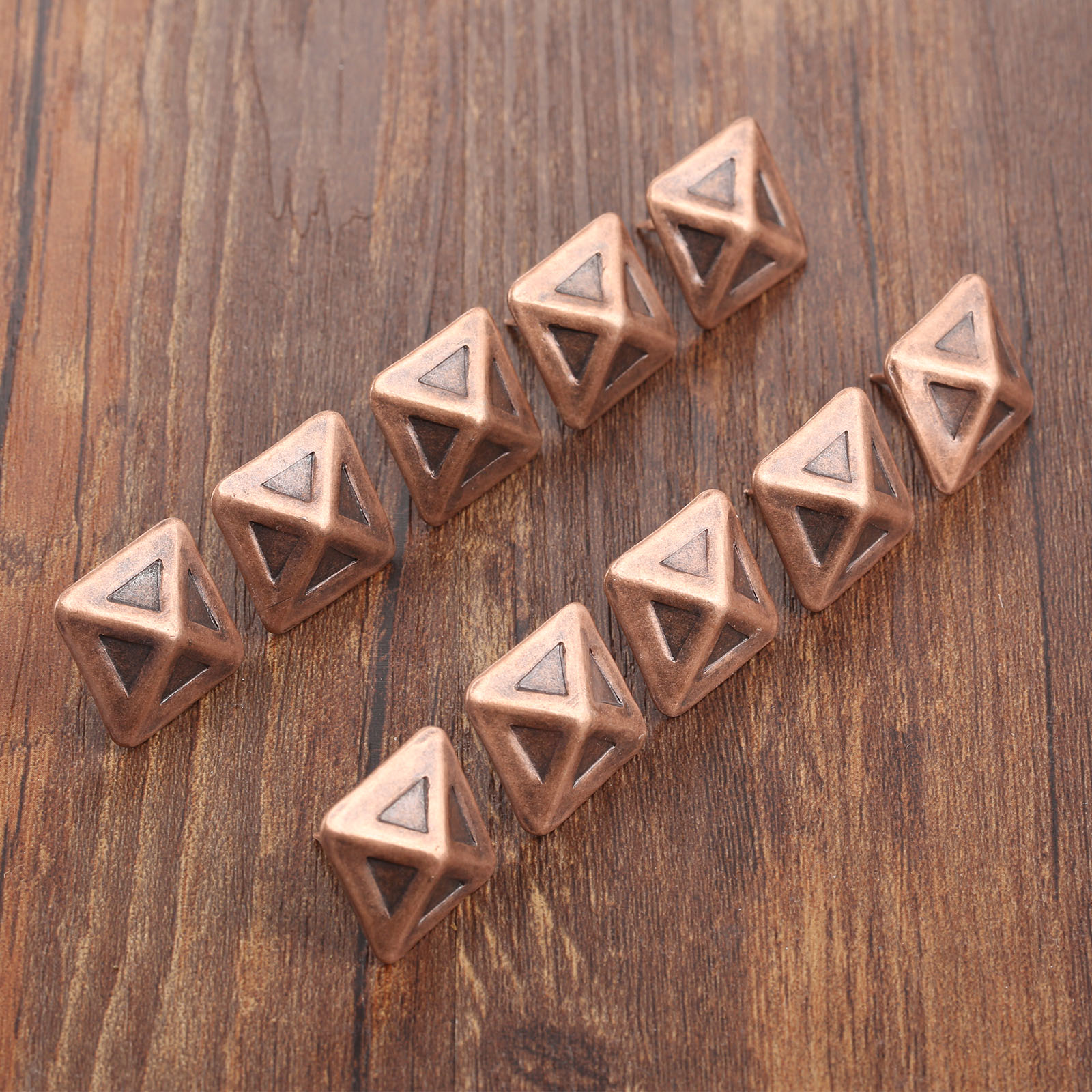 10Pcs 19*19mm Antique Upholstery Nail Tachas Jewelry Gift Box Door Sofa Furniture Decorative Tack Stud Pushpin Red Bronze