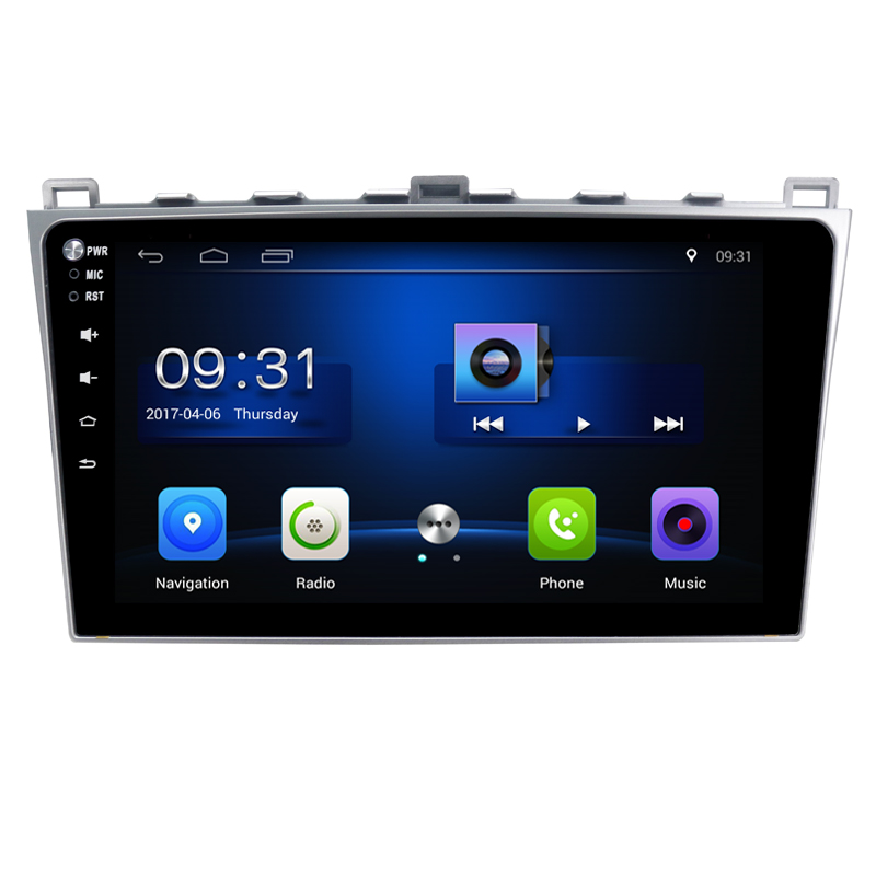 Quad Core Android 6.0 1G RAM Car Radio for mazda 6 2008-2011 with GPS Navigation steering wheel Free map