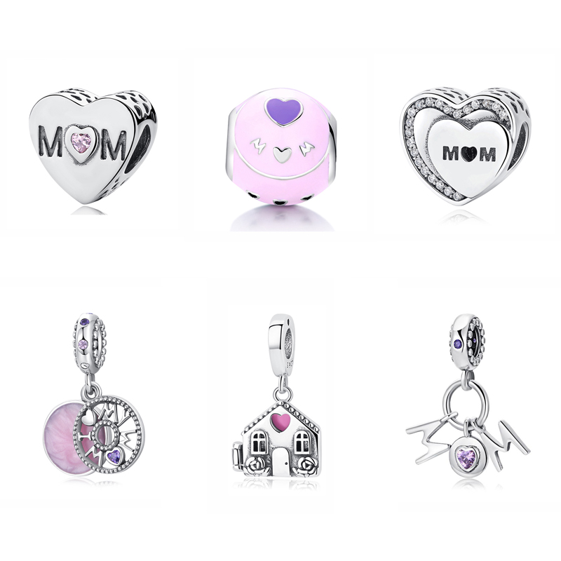 c14d583d3 Detail Feedback Questions about Original 100% 925 Sterling Silver Charm Bead  Perfect Mom Home Heart Pendant Charms Love Fit Pandora Bracelets Women Diy  ...