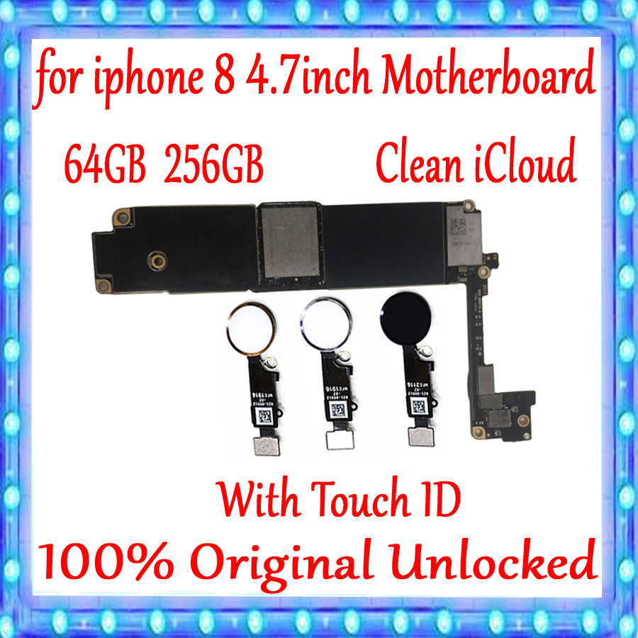 Clean iCloud For iPhone 8 Motherboard Factory Unlocked Mainboard 100% Original For iPhone 8 Logic Board With/Without Touch IDClean iCloud For iPhone 8 Motherboard Factory Unlocked Mainboard 100% Original For iPhone 8 Logic Board With/Without Touch ID