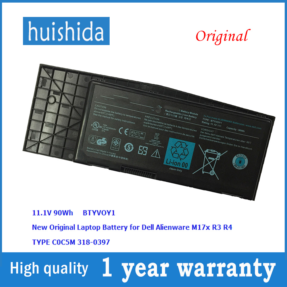 Dynamic 11.1 V 90wh Coc5m New Original Laptop Battery For Dell C0c5m 7xc9n Alienware M17x R3 R4 Mx 17xr3 17xr4 318- 0397 Series Volume Large