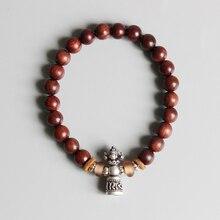 Eastisan Tibetan Buddhism Sanders Wood Mala Beads Women&Men Bracelets Beaded OM Healing Jewelry Handmade Bracelets Dropshipping