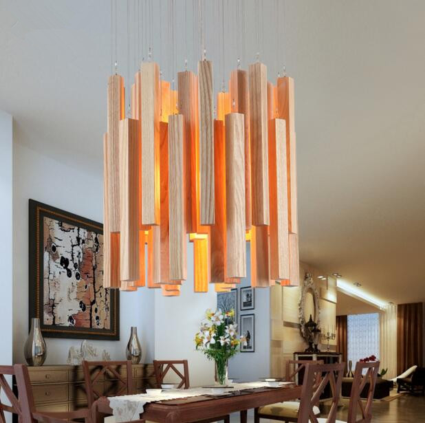 Designer Art Creative Personality Simple Restaurant Living Room LED Wood Long Shape Match Stick Chandelier Free Shipping тушь для ресниц artdeco art couture lash designer