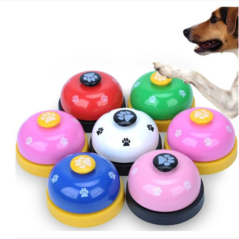 6 Colors Pet Toy Training Called Dinner Small Bell Footprint Ring Dog For Puppy Slowing-Eating Dogs Pet Training Supplies