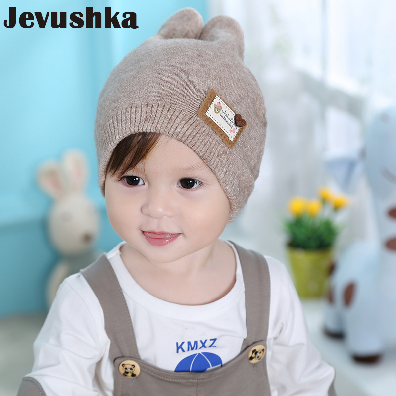 Winter Soft Wool Cotton Baby Hat Newborn Baby Beanie Warm Winter Hat For Baby Girls Boys Knitted Kids Cute Riaabit Ears Ht035 Mother & Kids Accessories