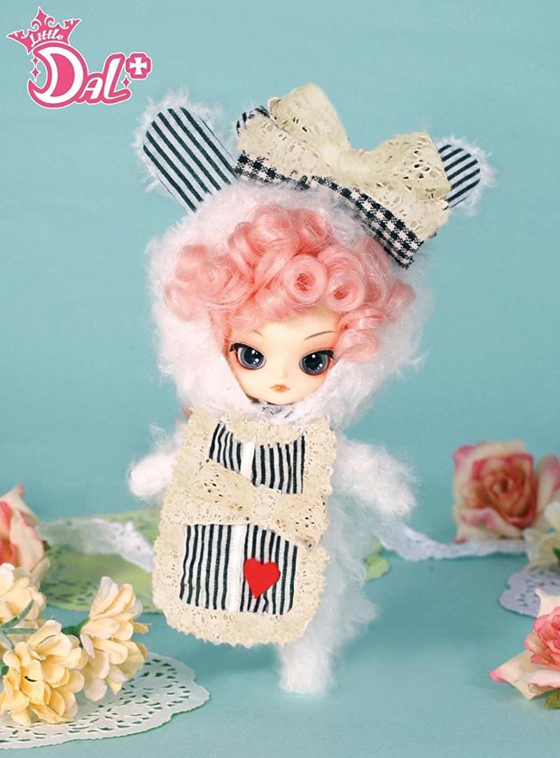 LITTLE PULLIP ROMANTIC WHITE RABBIT with box and beautiful dress mini doll girl gifts lovely toy white cami bodycon mini dress