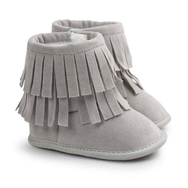 8c2986f568b81  Bosudhsou  R-47 bébé fille chaussures bébé mocassins fourrure doux semelle bébé  chaussures