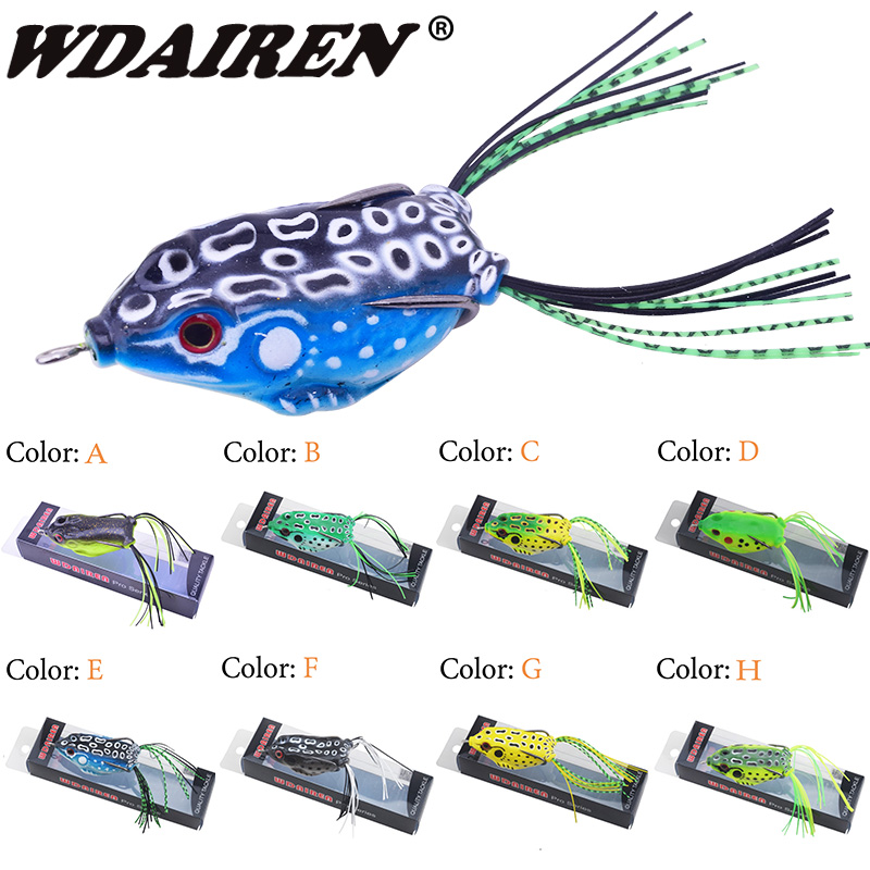 1Pcs 5.5cm 12g Topwater Soft Rubber Frog Fishing Lure Crank Baits with Hooks Isca Artificial Fishing Lures Black Fish Killer anmuka frog fishing lures kit snakehead lure topwater floating frog baits with box pesca isca artificial
