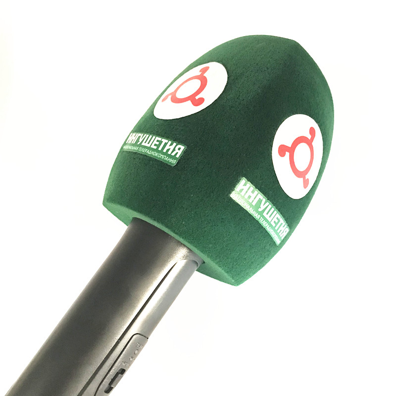 Green Flocked Interview Mic Foam Windscreen Handheld Windshield For Sennheiser MD46 Microphone Station Broadcasting Video