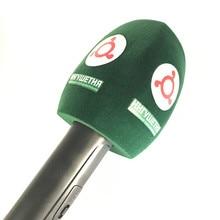 Green Flocked Interview Mic Foam windscreen Handheld windshield For Sennheiser MD46 Microphone station broadcasting Video