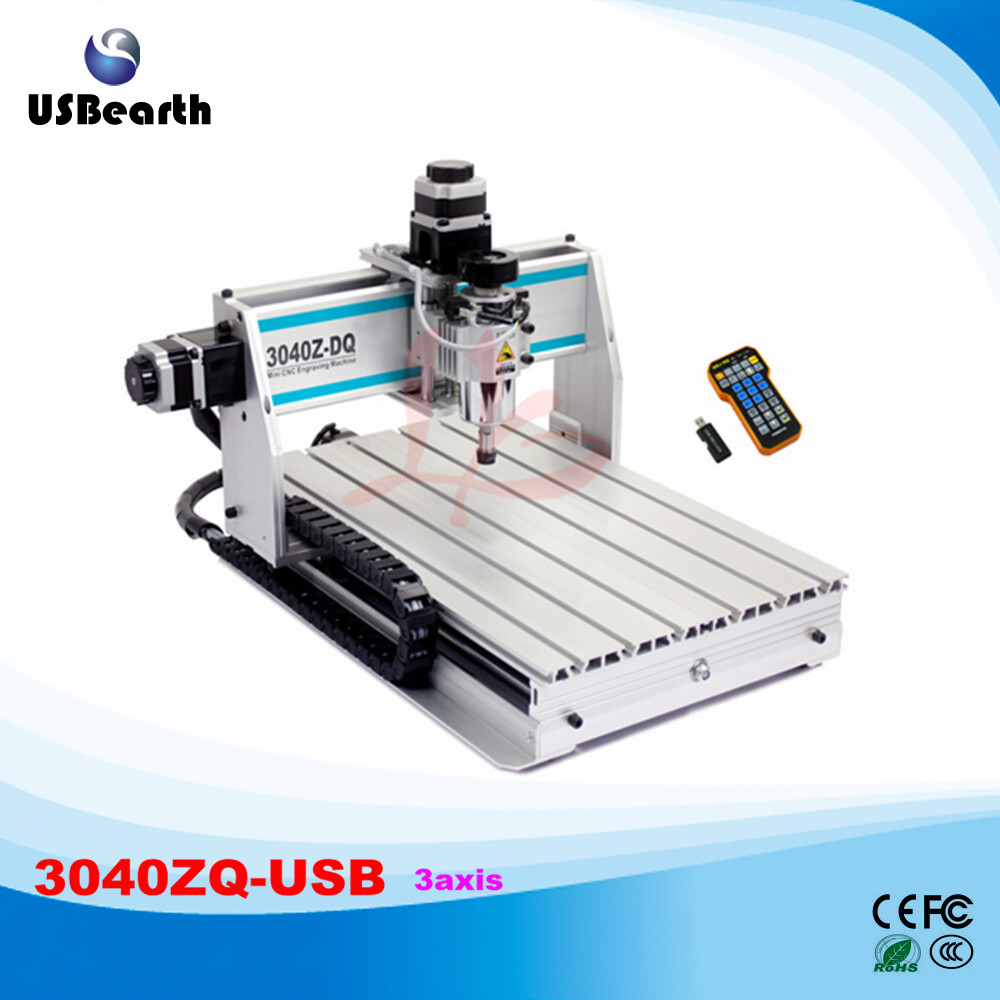 3040ZQ-USB 3axis CNC Router machine with mach3 remote control Engraving Drilling and Milling Machine eur free tax cnc 6040z frame of engraving and milling machine for diy cnc router