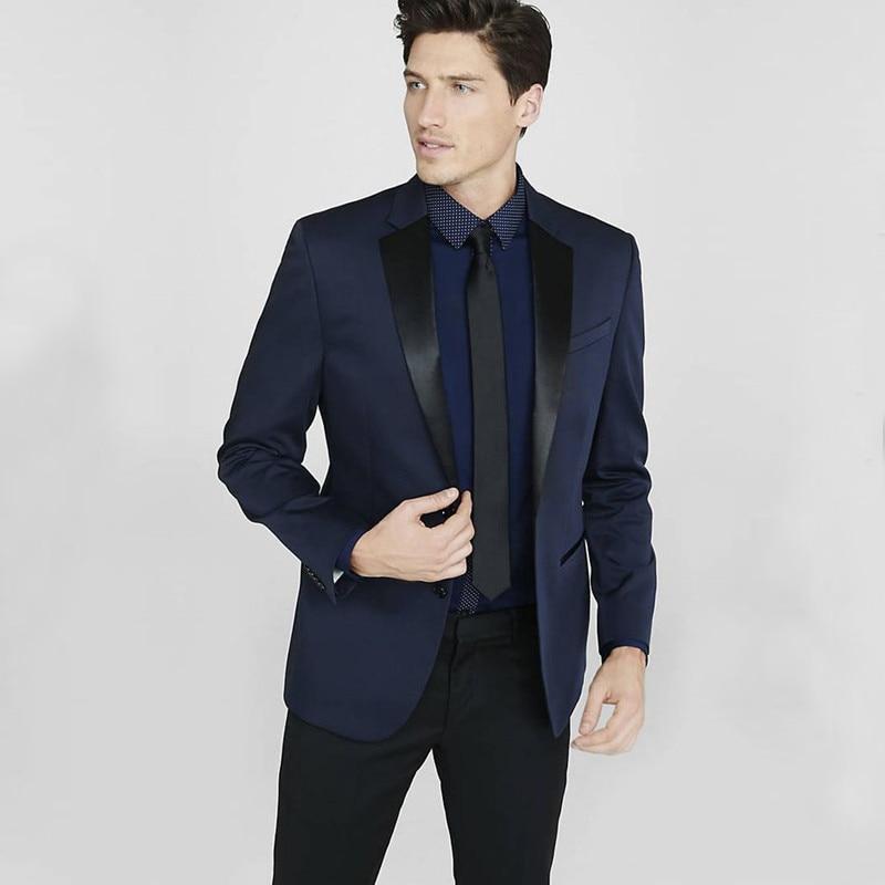 2017 custom made navy blue costume homme men suit smoking ternos masculino wedding suits for men. Black Bedroom Furniture Sets. Home Design Ideas
