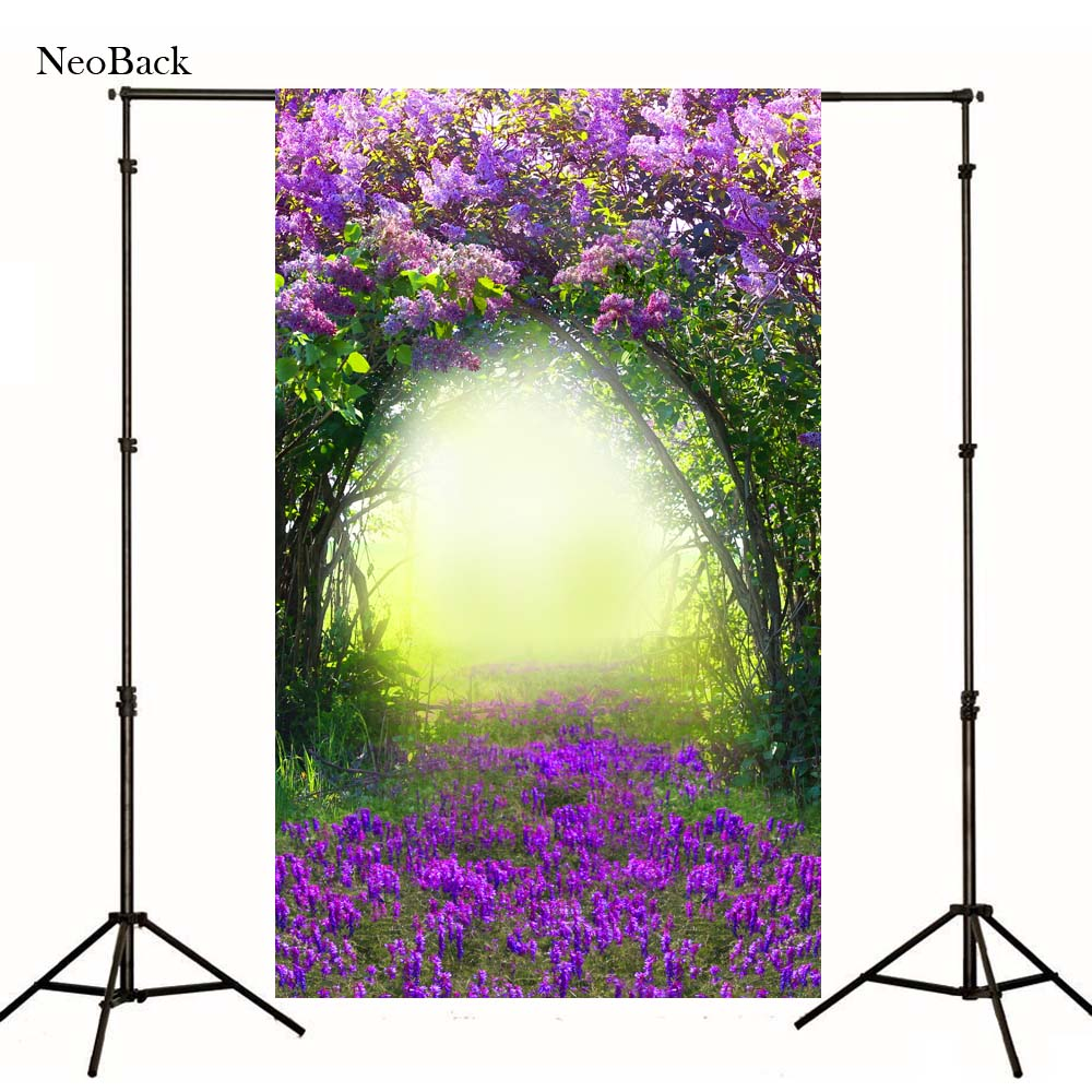 2017 5x7ft poly vinyl fondo Scenic forest floral children kids photo backgrounds Digital Printed studio photo Backdrops P0959