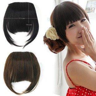FREE Shipping-fashion girls' fringe fake bangs with site  hair piece