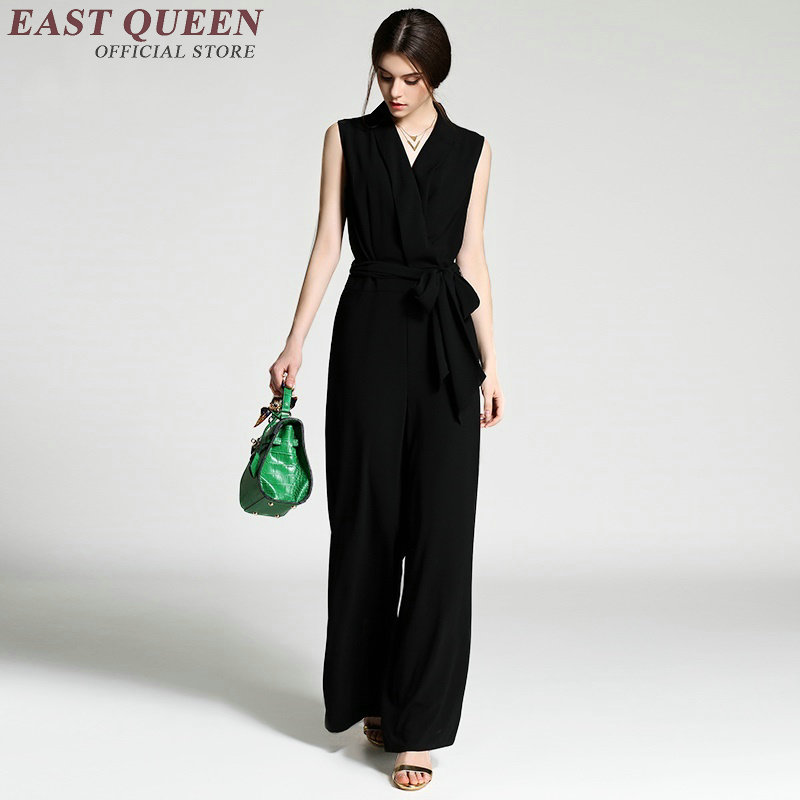 Jumpsuit women elegant evening jumpsuits female ladies elegant overalls womens jumpsuit long AA2164 W Подушка