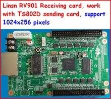 LINSN – carte de réception RV901, adaptée à tout type de carte HUB, fonctionne avec la carte d'envoi TS802D et la carte de réception RV901