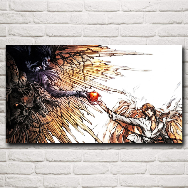 Death Note Japanese Anime Yagami Light Ryuk Art Silk Poster Print 11×20 16×29 20×36 Inches Home Decor Painting Free Shipping