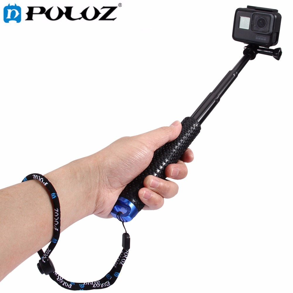 For Go Pro Accessories Handheld Pole Monopod Selfie Stick for GoPro HERO5 HERO4 Session HERO5 4 3 2 1SJ4000 SJ5000 Size:19-49cm