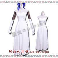 Anime Fate Stay Night Saber Arturia Pendragon Cosplay Costume Dress