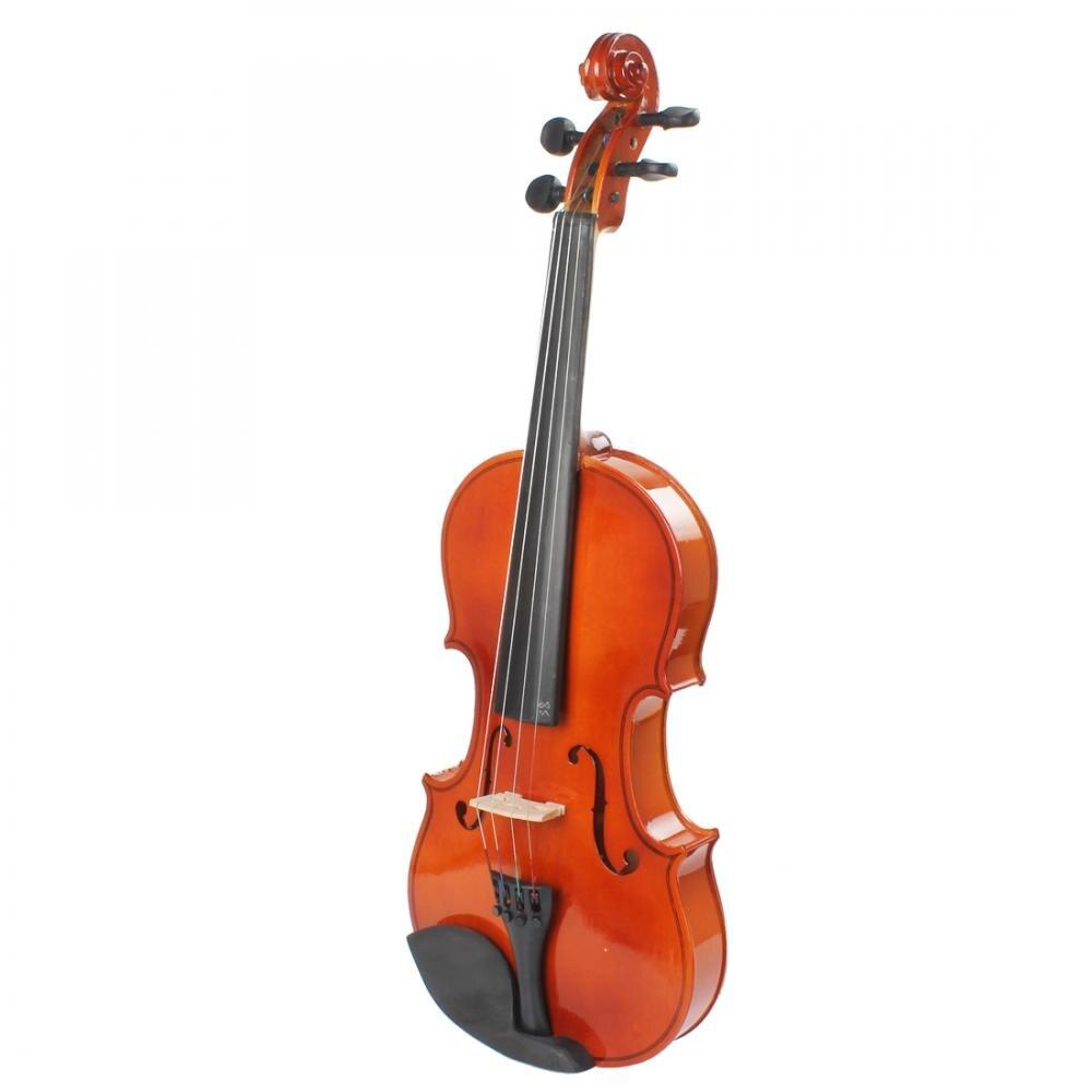 4/4 полный Размеры Природный акустическая скрипка начинающих Скрипка с чехлом и лук и канифоли