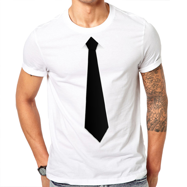 Suit Tie Print Design T Shirts2