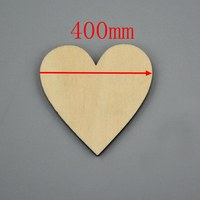 3pcs/lot Blank unfinished wooden heart crafts supplies laser cut rustic wood wedding rings ornaments 400mm 171144