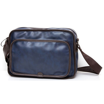 New Fashion PU Leather Men Messenger Bags Casual Crossbody Bag Business Travel High Quality Large