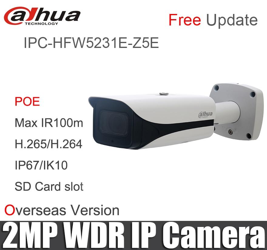 Dahua 2mp IP camera IPC HFW5231E Z5E H 265 POE IR100m for outdoor indoor security camera