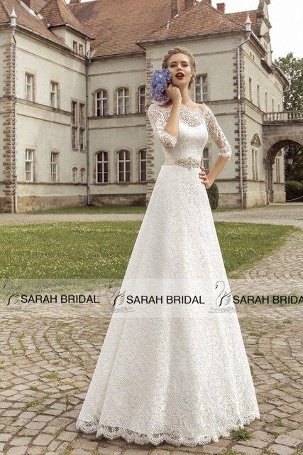 Aliexpress.com : Buy Vintage lace A line Wedding Dresses 2016 ...