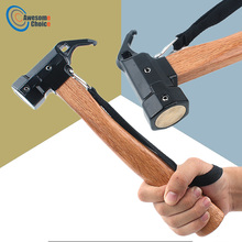Multi function Camping Hammer with Strap Steel Ultra Light Tent Nail Puller Shovel Outdoor Tent Peg Accessories Climbing Tool