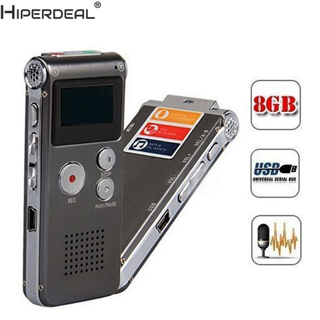 HIPERDEAL Mp3 Player 8GB Digital Audio Voice Recorder Rechargeable Dictaphone Telephone MP3 Player