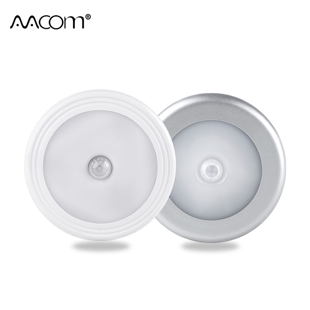 LED Under Cabinet Lights Wireless PIR Auto Motion Sensor Infrared Night Light Battery Powered Touch Switch Stair Wardrobe Lamp Under-cabinet lighting