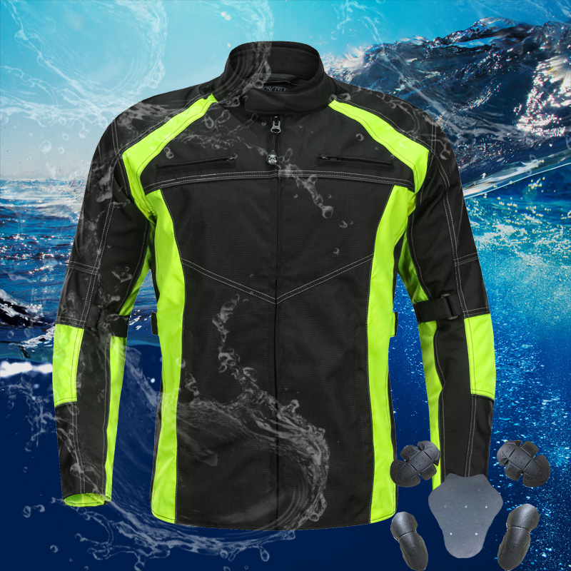 LYSCHY Winter Waterproof Motorcycle Jacket Oxford Summer Motorbike Motocross Racing Jacket Reflective Safety chaqueta moto Men