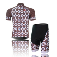 2016 XINTOWN Ropa Ciclismo Bike Singhe Brown Sleeve Jerseys With Pad Sets BIB Shorts Set Breatheable
