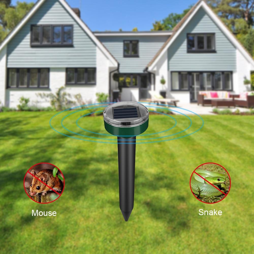 Outdoor Garden Mole Repellent Solar Power Ultrasonic Repeller Garden Lawn Mole Snake Bird Electronic Drive