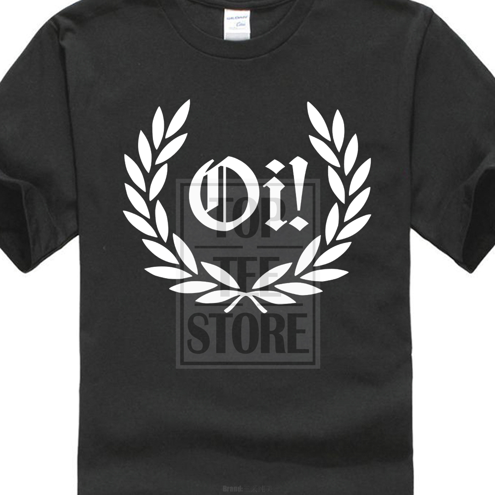 2017 más nuevo Oi! Laurel-Camiseta-Punk Rock Skinhead Resistente- & Colores Impresión 3D Camisetas para hombre Camiseta de manga corta 100% algodón