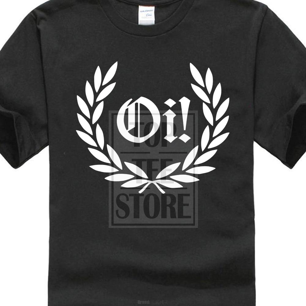 2017 neueste Oi! Laurel-Camiseta-Punk Rock Skinhead Resistente- & Colores 3D Print T-Shirts für Männer 100% Baumwolle Kurzarm T-Shirt
