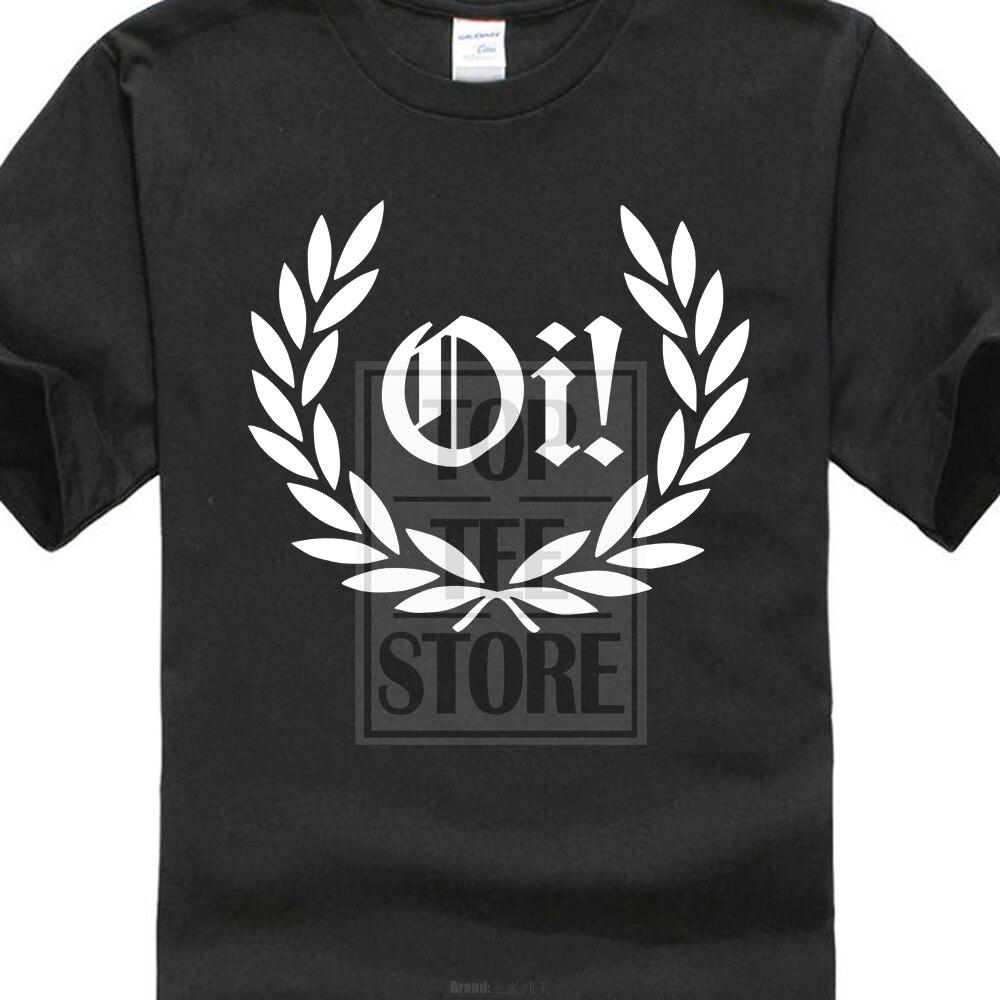 US $8.59 14% OFF|2017 najnowszy Oi! Laurel Camiseta Punk Rock Skinhead Resistente & Colores 3D Print męskie koszulki 100% bawełniana koszulka z