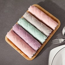 5 Pcs High Quality Cleaning Towel For Kitchen Super Absorbent Microfiber Household Dish Cloth Thicker Double-layer Washing Cloth high quality 1 4m super long double stroll simular rice paper practice calligraphy waterwriting cloth repeatedly used