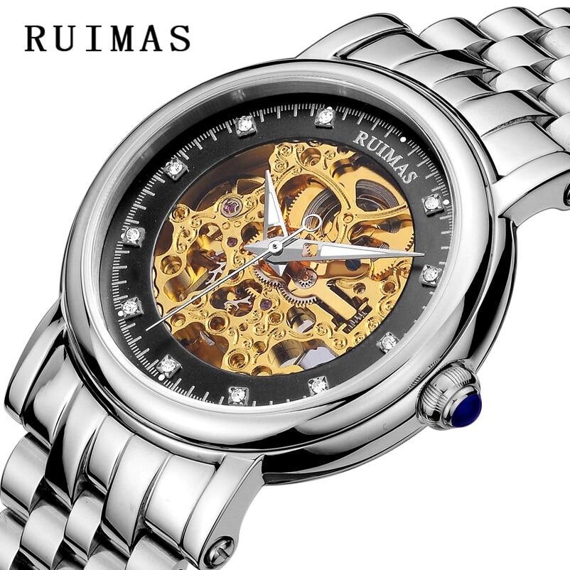 RUIMAS Reloj mecánico automático Top Brand Luxury Business Men - Relojes para hombres