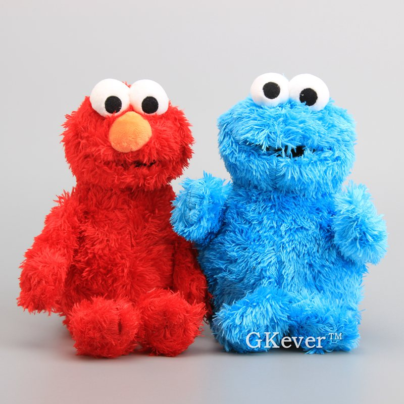 High Quality Sesame Street Elmo Cookie Monster Soft Plush Toy Dolls 30-33 Cm Children Educational Toys