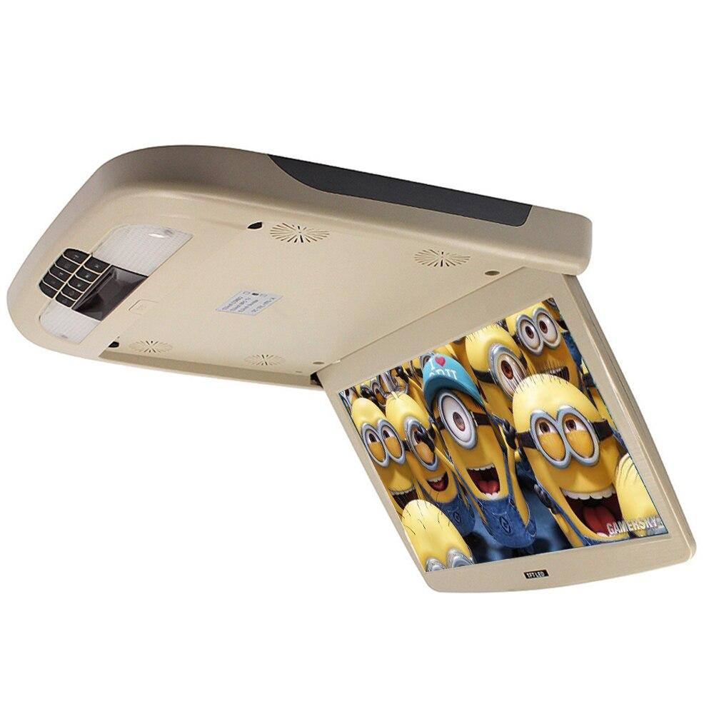 13 pollice TFT LCD Auto Monitor 12 v Vibrazione Imbottiture Tetto Montare Monitor Con USB/SD Porta