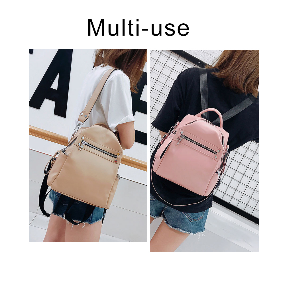Backpack  Women, PU Leather Fashion Convertible Shoulder Bag 1