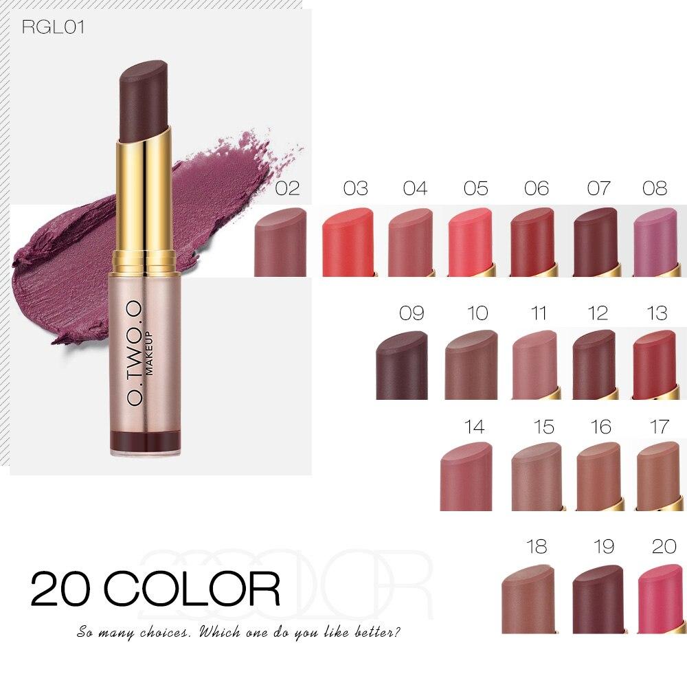 O.TWO.O Brand Wholesale Beauty Makeup Lipstick Popular Colors Best Seller Long Lasting Lip Kit Matte Lip Cosmetics 2