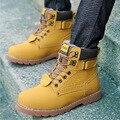Men shoes ankle boots 2016 New Arrivals PU Plus velvet warm winter Boots