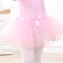 Для девочек Юбка для балета 3 слойная юбка из фатина платье-пачка короткие юбки для маленьких девочек детский детские спортивные гимнастические одежда, костюмы для танцев дно